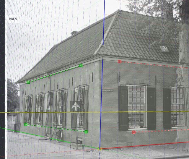 Modeling historical houses and photo matching