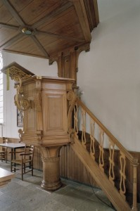 A photo of the pulpit