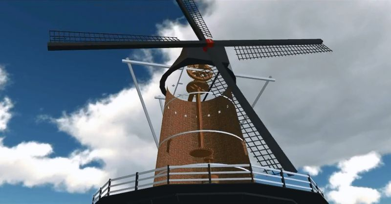 Video: molen Enghuizen in beweging